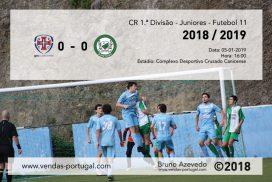 CR 1.ª Divisão - Juniores - Futebol 11 GR Cruzado Canicense e UD Santana