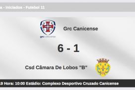 "GRC Canicense 6-1 CSDC Lobos ""B"""